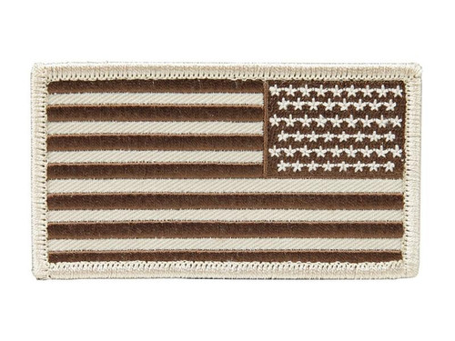 PATCH: USA Flag in Desert Tan (Arm/Reversed)