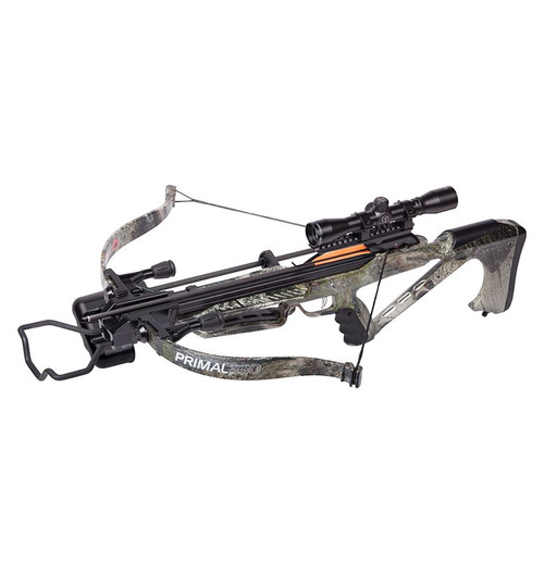 "Primal 330 Recurve Crossbow w/ 3 20"" Carbon Arrows"
