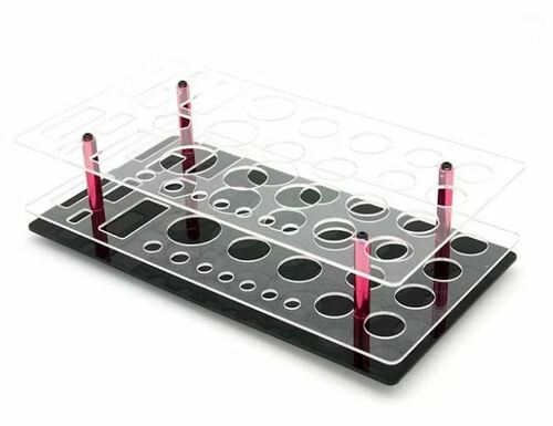 AIP Acrylic Shelf Tool Stand - 33 holes (AIP-TO-06)