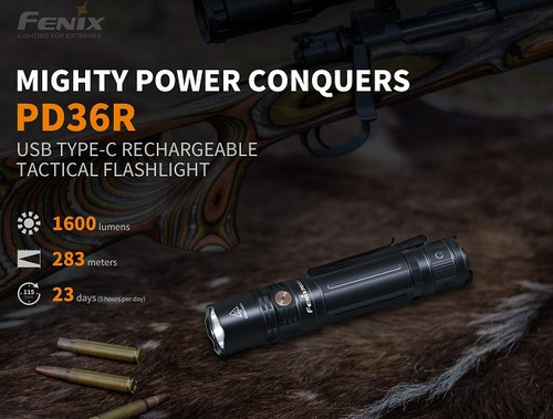 Fenix PD36R Rechargeable Flashlight - 1600 Lumens