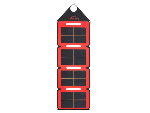 Solar Camp 7.6W Solympic Hue Portable Solar Panel (Color: Red)