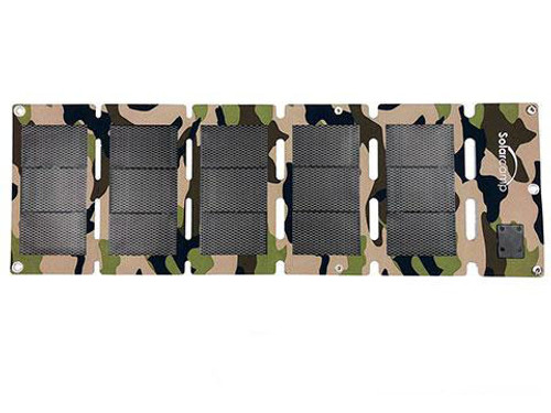 Solar Camp 10W Solympic Camo Portable Solar Panel (Color: Break-Up Country)