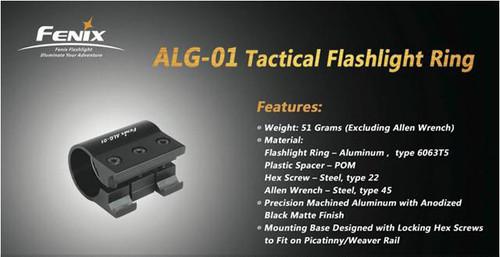 Fenix ALG01 Aluminum Flashlight Ring