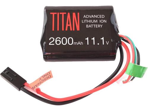 Titan Power 11.1v 2600mAh 10C Brick Type Li-Ion Battery (Connector: Small Tamiya)