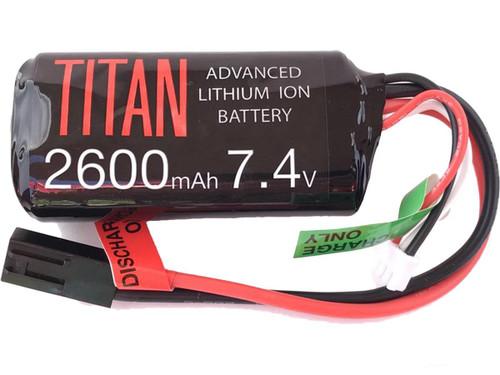 Titan Power 7.4v 2600mAh 10C Brick Type Li-Ion Battery (Connector: Small Tamiya)