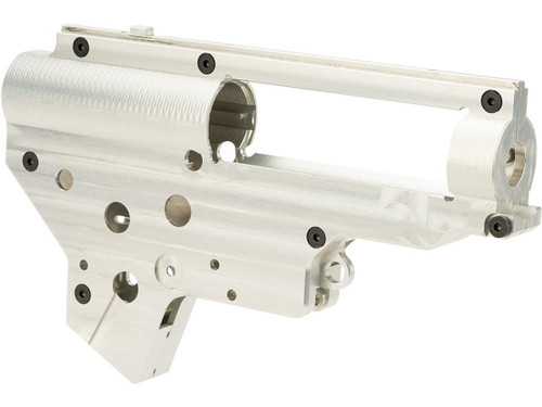 Retro Arms CZ Billet CNC 8mm Ver.2 Gearbox Shell for M4 / M16 Series Airsoft AEG Rifles (Color: Silver)