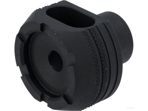Retro Arms CZ 14mm Positive CNC Muzzle Brake for Airsoft AEGs (Model: Type D)