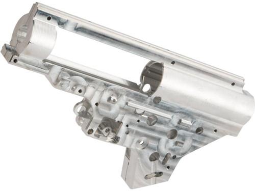 Retro Arms CZ CNC 8mm Gearbox Shell for SR25 Series Airsoft AEG Rifles - Silver