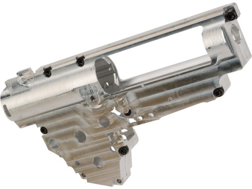 Retro Arms CZ CNC 8mm Ver.3 Gearbox Shell for AK / G36 Series Airsoft AEG Rifles with Spring Guide - Silver