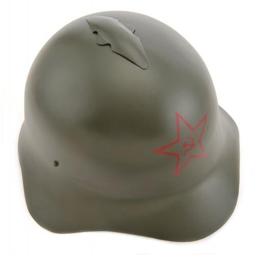 Russian M36 SSh-36 World War Two Helmet w/Hammer & Sickle