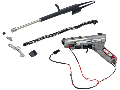 LCT Airsoft Complete Gearbox w/ Electric Blowback and Recoil Kit for AK Series Airsoft AEG (Type: Long Bolt)