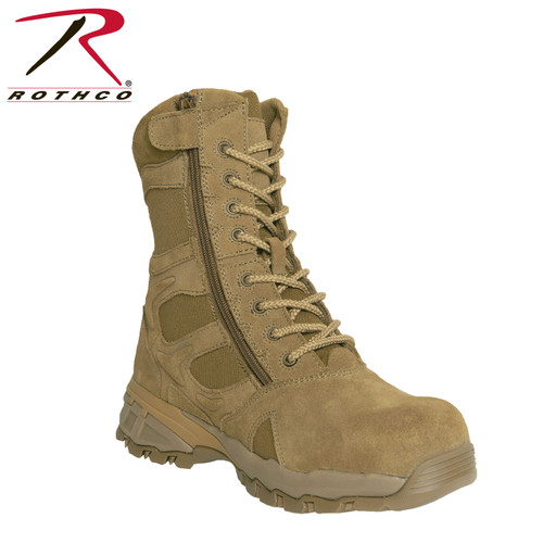 Rothco 8 Inch Forced Entry Tactical Boot w/Side Zipper & Composite Toe