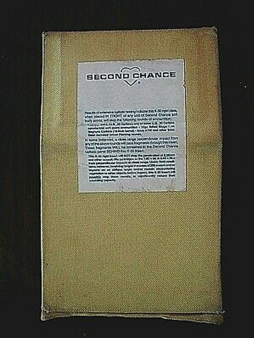 "Second Chance Body Armor Soft Pac Threat Level II 5"" x 8"""