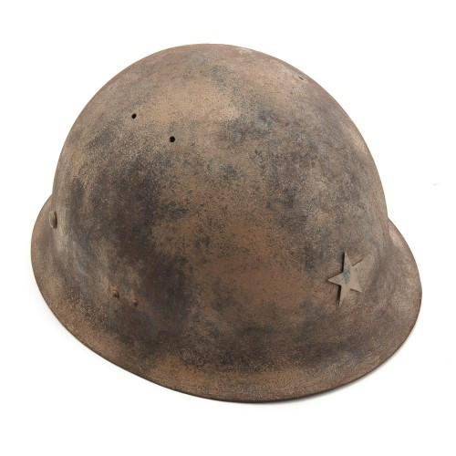 WWII Japanese Army Helmet Hand Aged