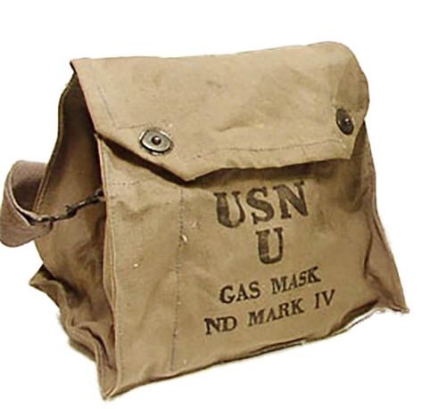 U.S. Armed Forces World War II  USN U ND Mark IV Gas Mask Bag