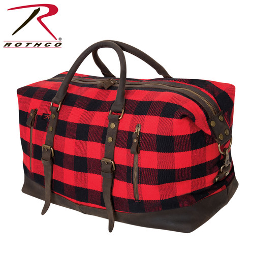 Rothco Extended Weekender Bag - Red Plaid