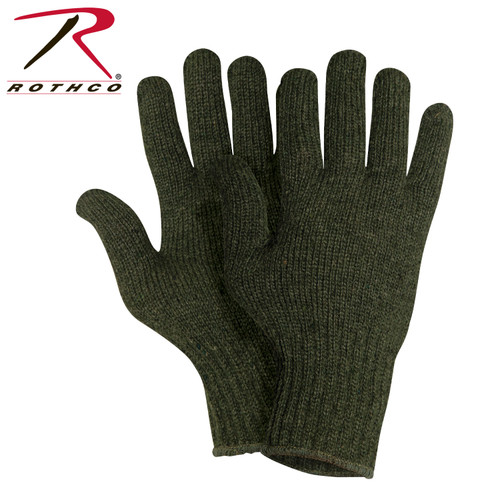 Rothco Wool Glove Liners - Unstamped - Olive Drab