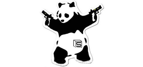 "Salient Arms International ""Akimbo Panda"" 3"" Die Cut Sticker"