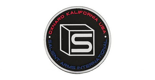 Salient Arms International Logo PVC Hook and Loop Morale Patch - Black / Multi