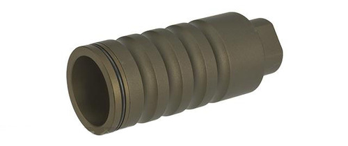 "G&P ""Go Loud"" Flash Hider / Amplifier for Airsoft AEGs - Sand (Thread: 14mm Positive)"