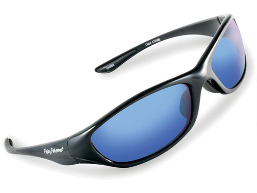 "Flying Fisherman ""Cabo"" Polarized Sunglasses (Color: Black w/ Smoke-Blue Mirror Lens)"