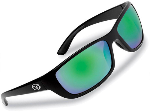 "Flying Fisherman ""Cay Sal"" Polarized Sunglasses (Color: Matte Black w/ Amber-Green Mirror Lens)"