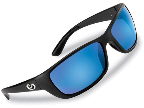 "Flying Fisherman ""Cay Sal"" Polarized Sunglasses (Color: Matte Black w/ Smoke-Blue Mirror Lens)"