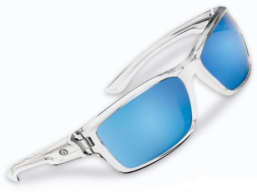 "Flying Fisherman ""Cove"" Polarized Sunglasses (Color: Crystal w/ Smoke-Blue Mirror Lens)"