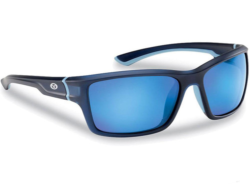 "Flying Fisherman ""Cove"" Polarized Sunglasses (Color: Matte Crystal Navy w/ Smoke-Blue Mirror Lens)"