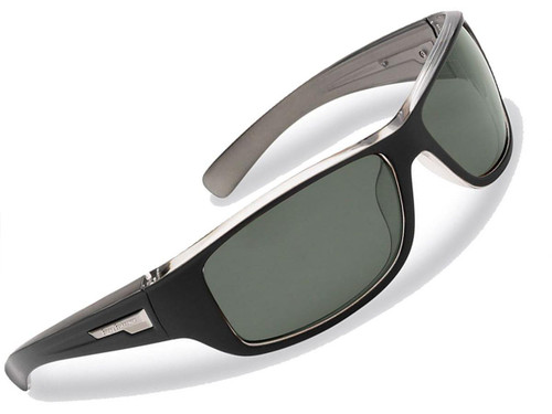 "Flying Fisherman ""Helm"" Polarized Sunglasses (Color: Matte Black w/ Smoke Lens)"
