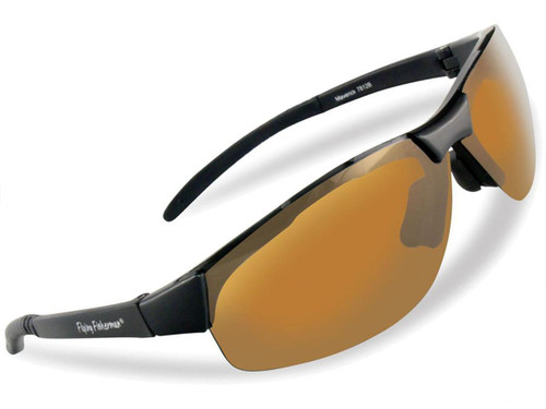 "Flying Fisherman ""Maverick"" Polarized Sunglasses (Color: Matte Black w/ Amber Lens)"