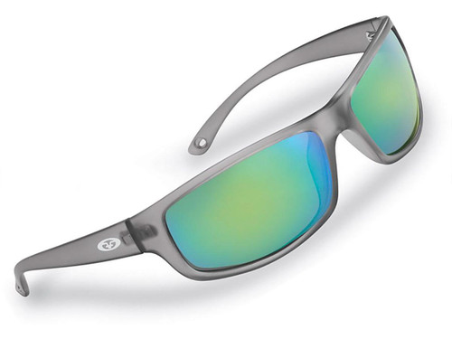 "Flying Fisherman ""Slack Tide"" Polarized Sunglasses (Color: Granite w/ Amber-Green Mirror Lens)"