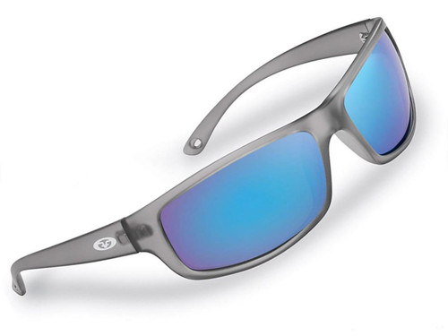 "Flying Fisherman ""Slack Tide"" Polarized Sunglasses (Color: Granite w/ Smoke-Blue Mirror Lens)"