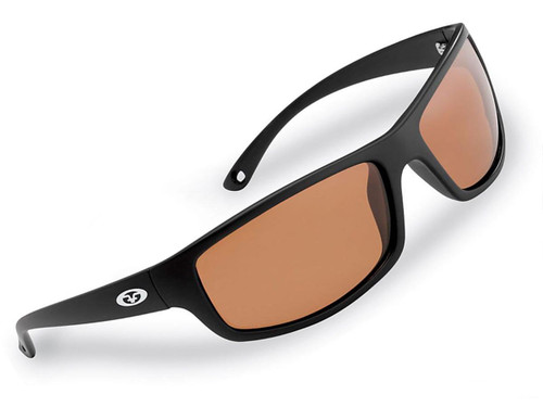 "Flying Fisherman ""Slack Tide"" Polarized Sunglasses (Color: Matte Black w/ Copper Lens)"