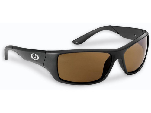 "Flying Fisherman ""Triton"" Polarized Sunglasses (Color: Matte Black w/ Amber Lens)"