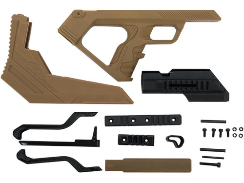 SRU 3D Printed Bullpup Conversion kit for WE-Tech MK17 Gas Blowback Rifle (Color: Tan)