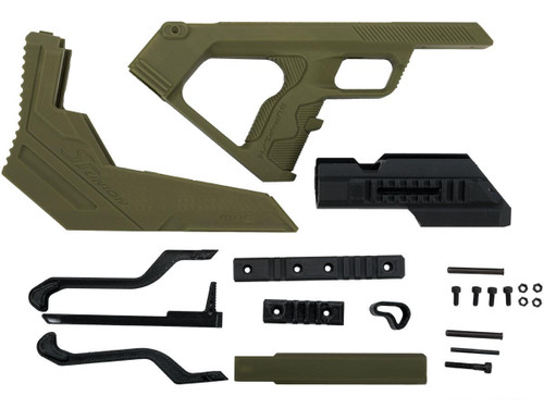 SRU 3D Printed Bullpup Conversion kit for WE-Tech MK17 Gas Blowback Rifle (Color: OD Green)