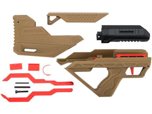 SRU 3D Printed Bullpup Conversion kit for WE-Tech PMC AK Gas Blowback Rifle (Color: Tan)