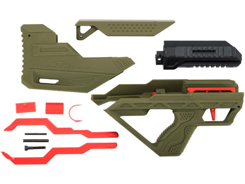 SRU 3D Printed Bullpup Conversion kit for WE-Tech PMC AK Gas Blowback Rifle (Color: OD Green)