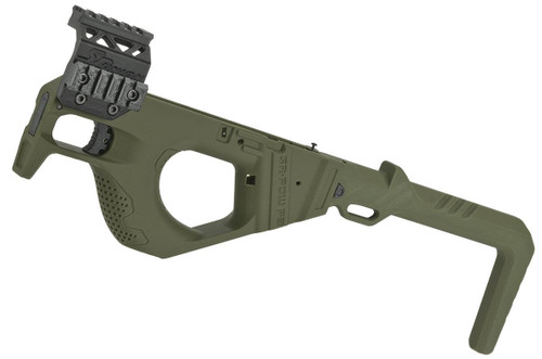 SRU 3D Printed PDW Carbine Kit for G Series Gas Blowback Airsoft Pistols (Color: OD Green)