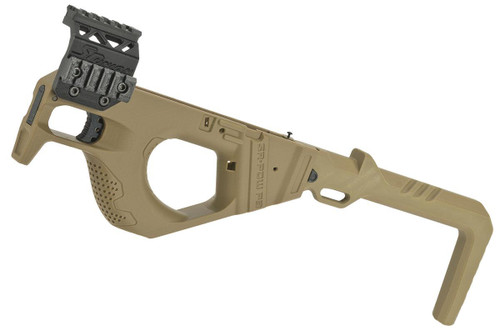 SRU 3D Printed PDW Carbine Kit for G Series Gas Blowback Airsoft Pistols (Color: Tan)