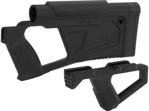 SRU Prototype Division Advanced Conversion Kit for KJW KC02 Series Airsoft GBB Rifles (Color: Black)
