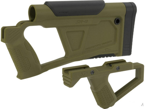 SRU Prototype Division Advanced Conversion Kit for KJW KC02 Series Airsoft GBB Rifles (Color: OD Green)
