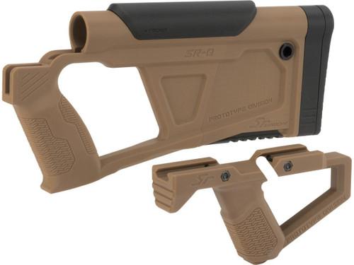 SRU Prototype Division Advanced Conversion Kit for KJW KC02 Series Airsoft GBB Rifles (Color: Tan)