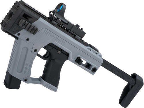 SRU PDW Carbine Kit with Elite Force GLOCK 17 Airsoft Pistols (Color: Airforce Grey / CO2)