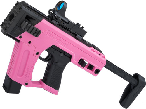 SRU PDW Carbine Kit with Elite Force GLOCK 17 Airsoft Pistols (Color: Pink / Gas)