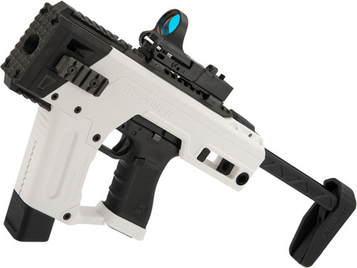SRU PDW Carbine Kit with Elite Force GLOCK 17 Airsoft Pistols (Color: White / CO2)