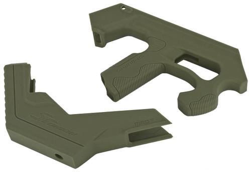 SRU SCAR-L 3D Printer Bullpup Carbine Kit for WE-Tech Mk16 / SCAR-L Gas Blowback Airsoft Rifles (Color: OD Green)