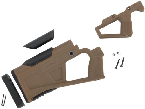 SRU SRQ AR Advanced Kit for Gas Blowback Airsoft M4 Rifles (Color: Tan)