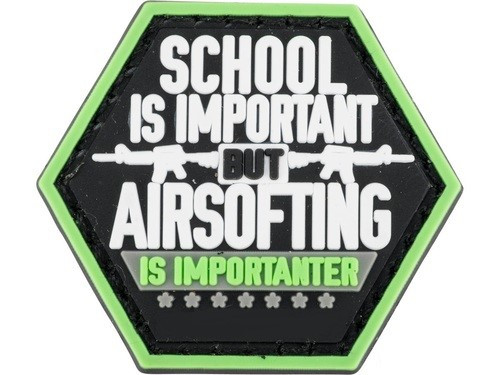PVC Hex Patch Catchphrase Series - Airsofting is Importanter